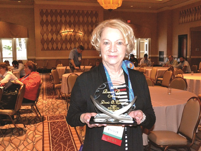 Doris Cassan received this year's Russell Bruno Award for outstanding service to the auto rental industry. Cassan, a longtime Dollar Rent A Car licensee since 1968, has locations in Seattle and Portland. Photo credit: Amy Winter.
