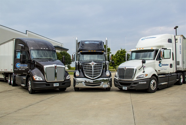 Celadon Trucking Services uses software and information management tools to save fuel and cut greenhouse gas emissions, which helps with their nearly 4,000-vehicle fleet.