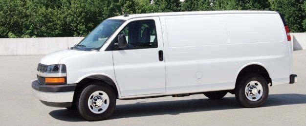 The Chevrolet Express Cargo Van (pictured) and GMC Savana Cargo Van are available in two wheelbases and offer a choice of two gasoline engines as well as a turbodiesel V-8. (PHOTO: GM)