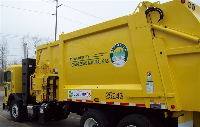 More than half of Columbus's trucks run on alternative fuels, and more are added yearly.