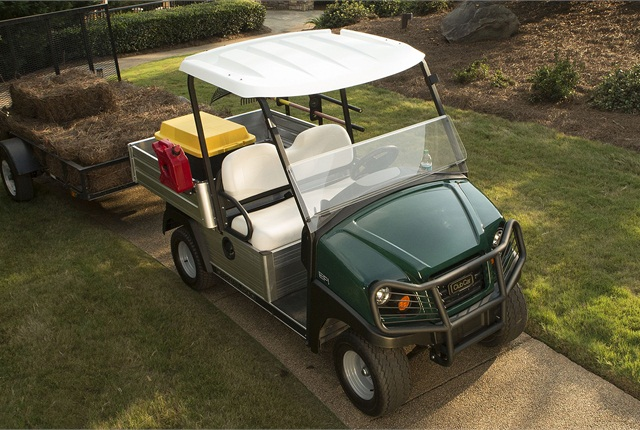 According to Club Car's Mike Cotter, the manufacturer's aircraft-grade aluminum frames are rustproof and corrosion-resistant. Pictured is the Carryall 500. Photo courtesy of Club Car.