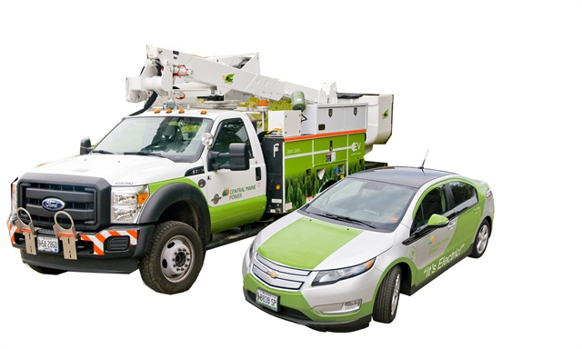 Photos courtesy of Central Maine Power Co.Back in August 2012, CMP began incorporating hybrid vehicles into fleet, and now has nine hybrid bucket trucks and two Chevrolet Volts.