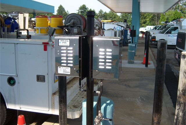 Photos courtesy of Aqua America.Once a CNG time-fill station was built at Aqua's Springfield, Penn. location, the utility acquired more CNG vehicles within several months.