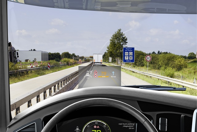 Continental's heads-up display shows vital information without the driver having to take his or her eyes off the road.