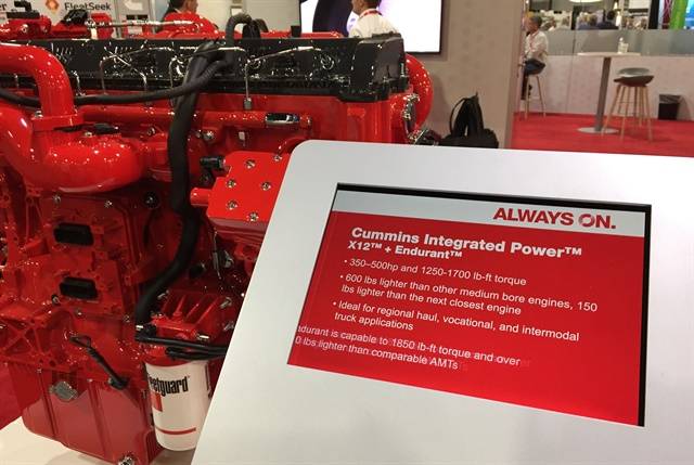Cummins highlighted the new name at its booth at the Technology & Maintenance Council annual meeting. Photo: Deborah Lockridge