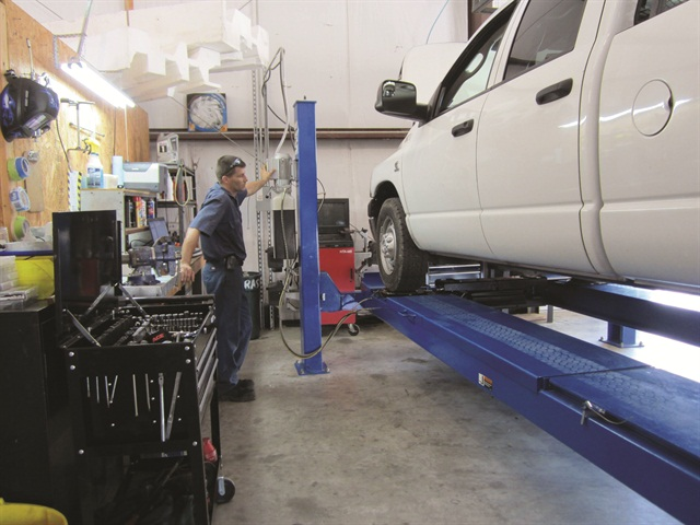 Austin Gutter King runs a small fleet of light-duty trucks and vans, yet decided to set up an in-house maintenance operation. Owner Gary Kulp estimates total savings of 60% when compared to servicing off-site, with considerable time savings, as well.