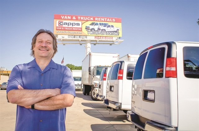 Dave Capps, owner of Capps Van and Truck Rental, says his company is less affected by the current trend of softening used car values than companies that rent passenger vans, and this provides an extra level of comfort to a lender.