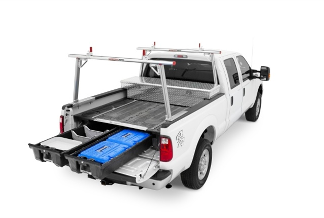 The DECKED truck insert is a full-size truck bed storage solution that is quick to install and provides additional access to tools. (Photo courtesy of DECKED)