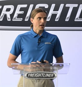 Derek Rotz, senior manager of Advanced Engineering at Daimler Trucks North America, headed up the SuperTruck program at Freightliner.