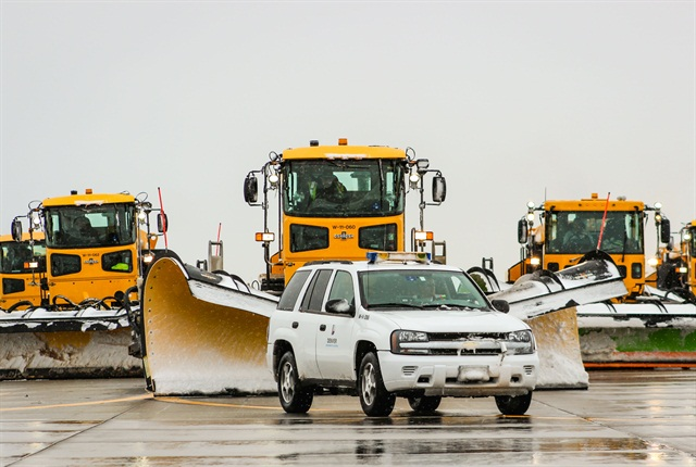The Denver International Airport recently conducted a utilization study of its fleet, which consists of 1,700 units, including the one of the largest snow removal fleets in the nation. Photo for Ron Anderson for DIA