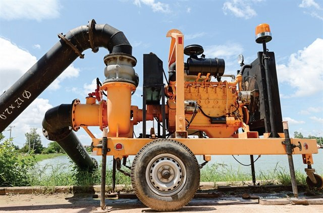 Diesel fuel stored for long periods in a pump, such as the one pictured, may degrade or become contaminated.Photo: Shutterstock
