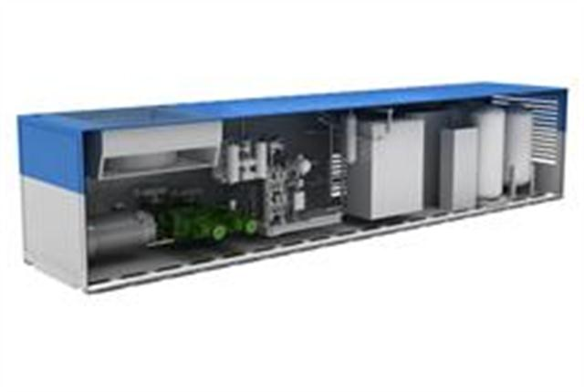 <p>Cutaway showing interior of LNG In A Box</p>