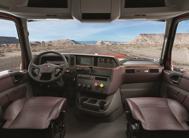 Luxury interiors, like the one in the updated International LoneStar, are no longer exclusively reserved for top-of-the line truck models. Photo: Navistar International