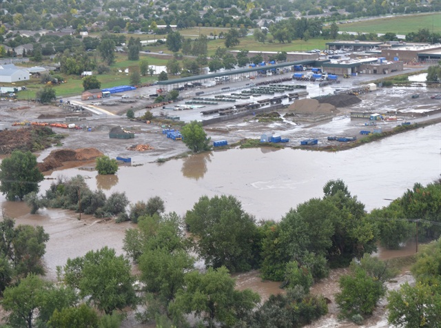 Flooding in the City of Loveland. Click this image for more photos. Photo courtesy of City of Loveland.