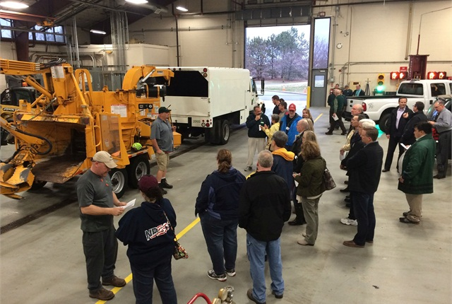 As part of the City of Dublin's (Ohio) Citizens University, 20 residents were given a peek at city operations, including fleet services. Photo courtesy of City of Dublin.