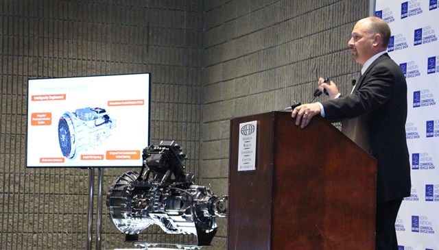 """Endurant was designed, engineered and created from a clean sheet to be an automated transmission, not simply an update to an AMT,"" explained Gerard DeVito, vice president, Technology, Eaton Vehicle Group. Photo: Evan Lockridge"