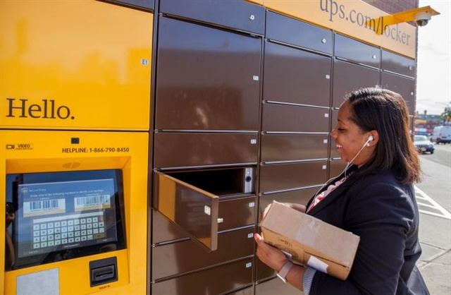 As e-commerce has spelled growing consumer deliveries, new options are arising for delivery points. UPS Access Point Lockers, for instance, offer customers to pick packages up at their convenience — and cut down on the number of separate residential deliveries for UPS. Photo: ©istockphoto.com/jahcottontail143