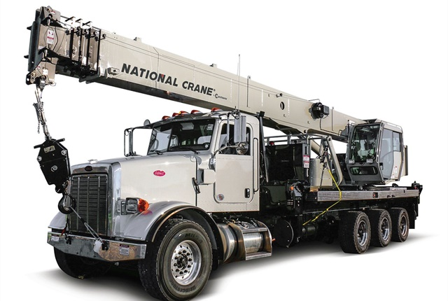 The National Crane NBT40-1 Series is designed to improve fleet utilization and provide more versatility in utility work, according to manufacturer Manitowoc. Photo courtesy of Manitowoc