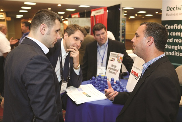 Attendees had seven hours to interact with product and service vendors on the exhibit floor. Photo by Steve Reed.