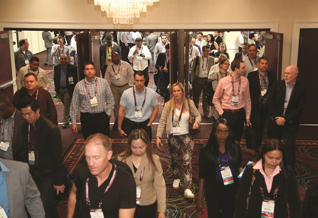 Attendees head into the show's exhibit hall. There were several opportunities for attendees to interact with various suppliers and vendors. Photos by Steve Reed and Amy Winter-Hercher.