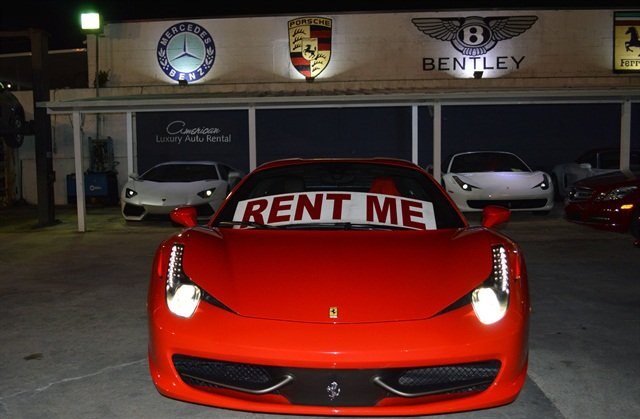 The parking lot of American Luxury Rentals in Miami — about the size of a basketball court  — houses a fleet of exotic vehicles with a total value of about $4 million.