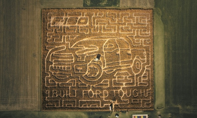 The corn maze can take an hour or more to complete. (PHOTO: Ford Motor Co.)