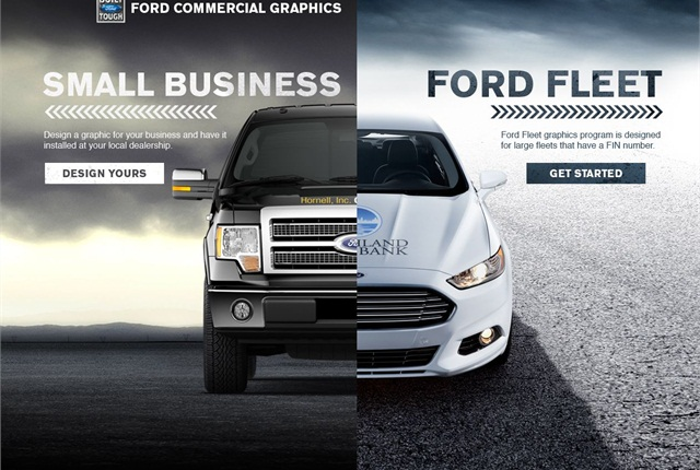 The new Ford Commercial Graphics website.