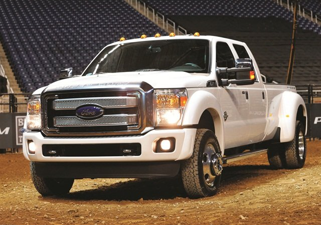 A bold color choice may make a statement or be a means to meet a corporate need, but fleets that want to maximize their resale returns will stick with white. Photo credit: Ford Motor Co.