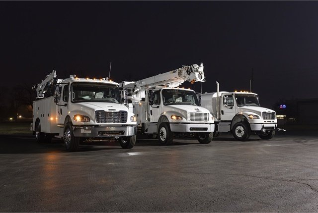 Freightliner offers several medium- and heavy-duty options for 2018, including the M2106 and M2112, which can be spec'ed for a variety of upfitting applications. (Photo Freightliner)
