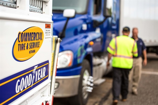 National tire management programs initially began as roadside assistance services, but now include complete tire life cycle management and data analysis options as well. Photo: Goodyear