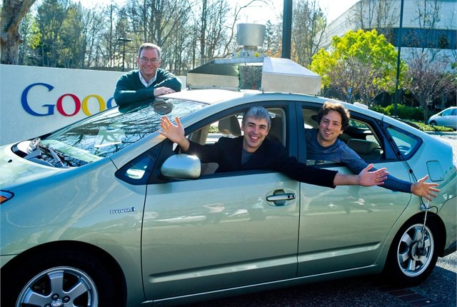 Photo of Google's self-driving Prius courtesy of Google.