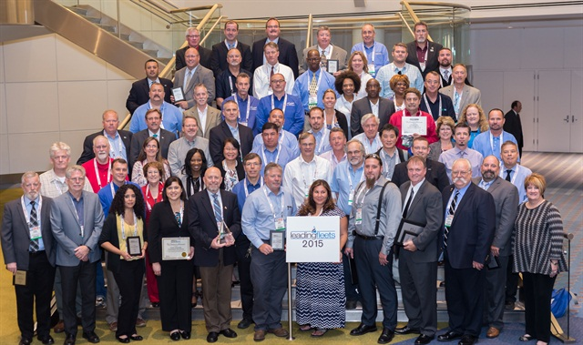 Many of the Leading Fleets award recipients are pictured here after The Honors Celebration at the Government Fleet Expo & Conference (GFX) on June 10. Photo by Gene Tewksbury.