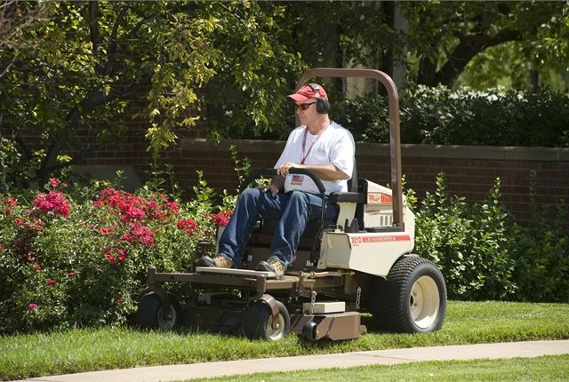 Grasshopper Model 321D-48 features a 48-inch deck with zero-turn maneuverability for tight-quarters mowing applications. Photo courtesy of Grasshopper