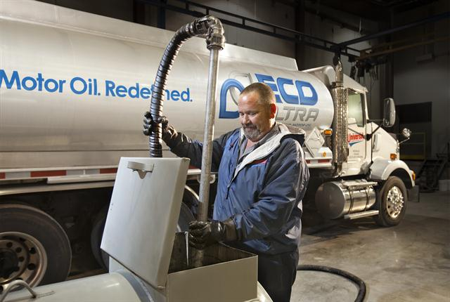 Universal Lubricants picks up drain oil at automotive dealers, repair shops and truck terminals.