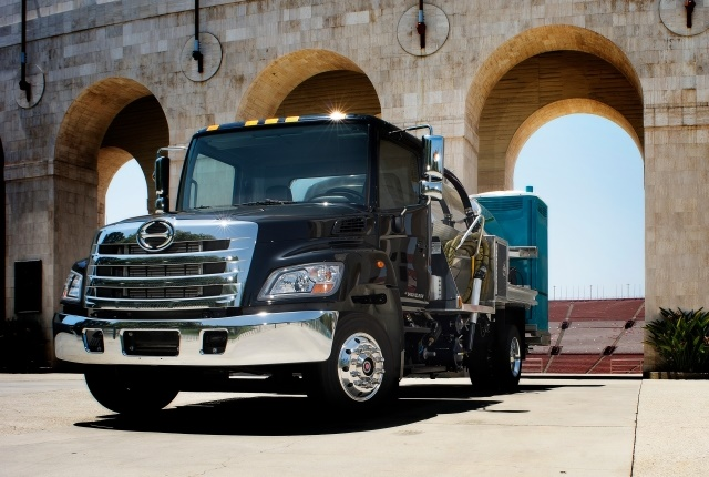 Every Hino truck sold in North America will be equipped with INSIGHT vehicle telematics. (Photo courtesy of Hino Trucks)