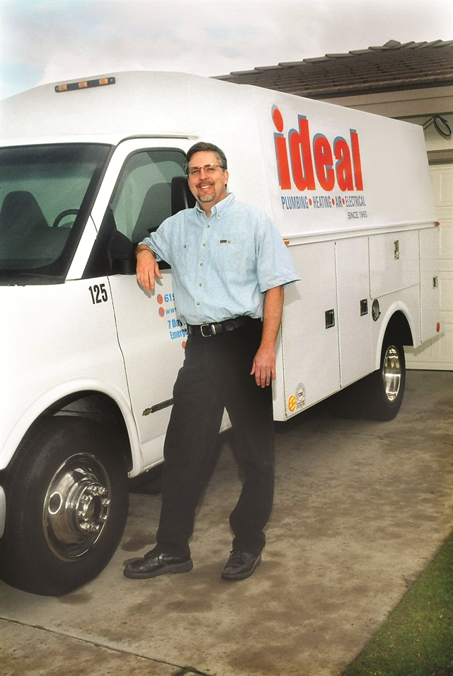 Don Teemsma, president of Ideal Plumbing, uses his telematics system to measure drivers' speed, rate of acceleration, idle time and harsh braking and cornering. Drivers get hard copies of their scores to encourage them to imporve performance and efficiency.