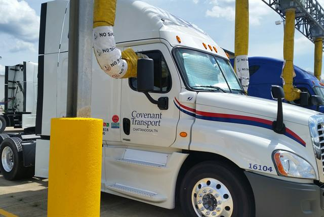 Covenant is one of a number of fleets that is having IdleAir facilities installed at terminals. Photo courtesy IdleAir.