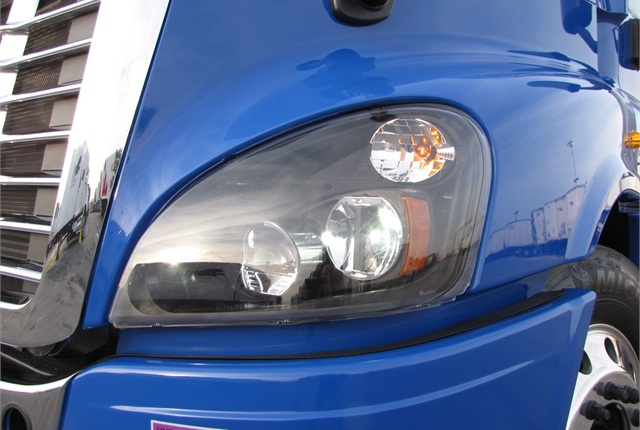 Freightliner's Cascadia is standard with custom-fit LED lamps.  Truck-Lite is also making LEDs for International's ProStar and Volvo's VNL.