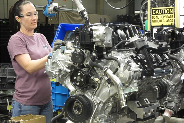 This year the powertrain plant in Decherd, Tenn., will assemble about 1.4-million engines, including this Endurance V-8.