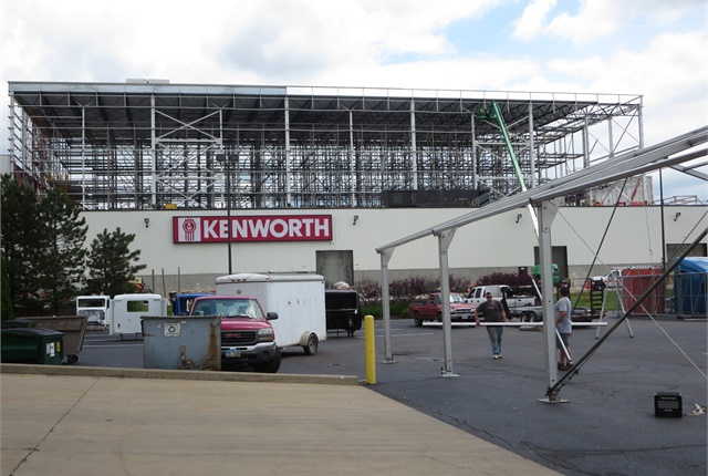 Contractors are adding a second story to house the new parts facility. Photo: Tom Berg