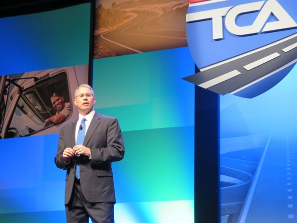 "At the 2015 TCA convention, Bentley said he was ""passionate about TCA's image initiatives."" Photo: Deborah Lockridge"