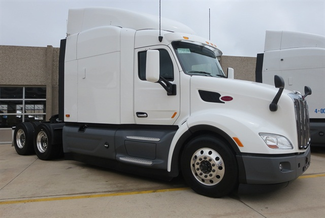 One of Peterbilt's two demonstration trucks testing autonomous technologies. Photo: Deborah Lockridge
