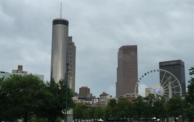 View of Atlanta skyline from Centennial Olympic Park across the street from the GWCC. Photo: Deborah Lockridge