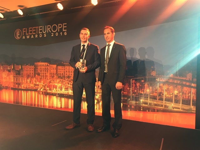 Andy Leeden of AstraZeneca was named International Fleet Manager of the Year (Large Fleet). Photo:Mike Antich