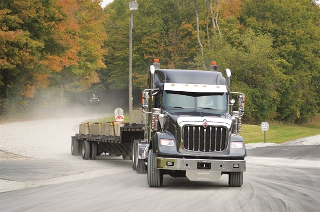 International's new, HV Series tractor is the company's first severe-duty truck available with the new A26 12.4-liter diesel engine.