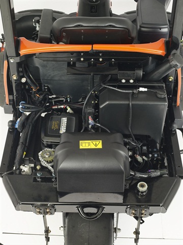 Pictured is the Jacobsen Eclipse 322 hybrid mower engine. According to Jacobsen, a hybrid mower can reduce fuel costs by 40%. Photo courtesy of Jacobsen
