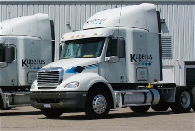 Kuperus Trucking averaged 8.58 mpg the first eight months of 2015 for its fleet of 48 tractors, compared to 6.23 mpg in 2003.