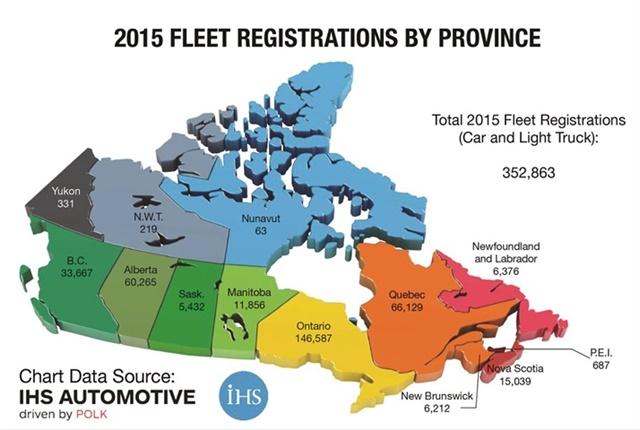 Map courtesy of Canadian Automotive Fleet