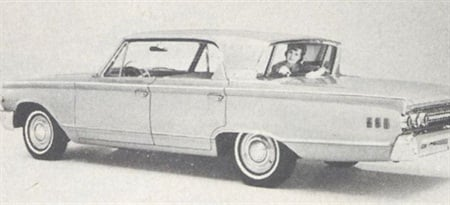 Mercury Monterey has a reverse slope rear window.