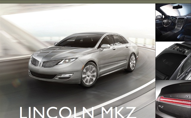 THe 2013-MY Lincoln MKZ.